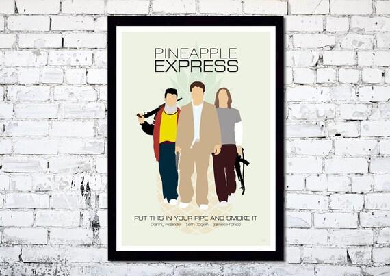Pineapple Express // Minimalist Movie Poster // Unique Art Print