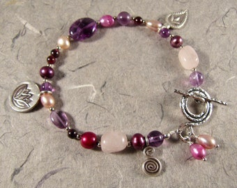 Wine and Roses Bracelet
