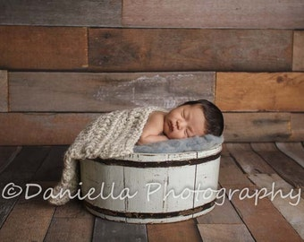 Newborn Photo Prop Blanket // Photography Blanket // Wheat