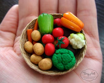 Miniature vegetables for dollhouse