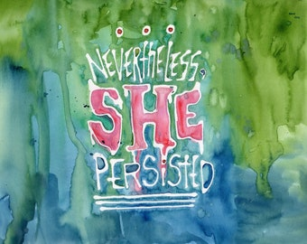 She Persisted (Original Painting)