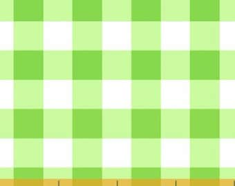 Windham Basic Brights - Large Plaid in Green / White - Bright Basics Cotton Quilt Fabric Dots - Windham Fabrics - 29397-3 (W1316)
