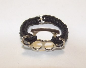 Brass Knuckles Ring - Choose Band Color