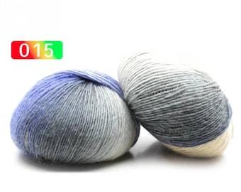 2 - Rainbow Wool Anti-pilling Yarn Skeins #15