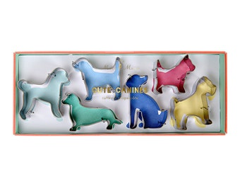 Dog Lovers Cookie Cutter Set of 6 for Star Baker Pet Owners Gift Baking Biscuit Enthusiast Biscuiteers Gifts Stainless Steel