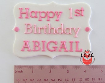 Plaque for cakes, any inscription any color