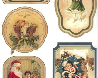 2 Sheets Italy Rice Paper Decoupage Vintage Images Christmas Scenes RCP-FS-60 x2