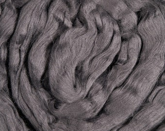 Gray Bamboo/ Dyed Bamboo/ Bamboo/ 8 oz/ Spinning Top/ Needle Felting/ Carbonized Bamboo/ Blending Fiber/ Charcoal Gray/ Alba Ranch/