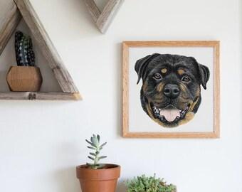 Custom Pet Portrait - Pencil Crayon - Full Color - Made to Order - Original Drawing - Dog, Cat, Horse, Bunny - Custom Sizes