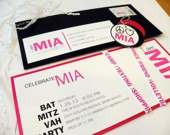 Bat Mitzvah bar mitzvah Wedding Invitation wedding