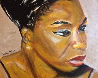 Nina Simone Signed 11x14 Print