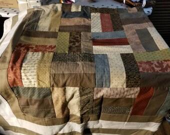 """64"""" x 70"""" civil war reproduction color quilt"""