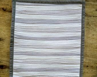 Ivory, Cream and Grey Mini Art Quilt