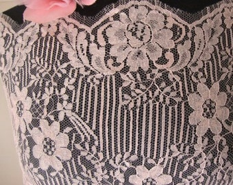 A Piece of Pink French Cotton Lace Fabric Victorian Style Lace Flapper Dress Wedding Lace Doll Clothes PinkTulle French Tulle 134 #22