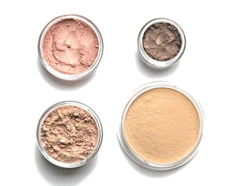 Mineral Makeup Starter Set choose your own shades | Mineral Foundation | Mineral Blush | Mineral Eyeshadow | Finishing Powder | Oil Control
