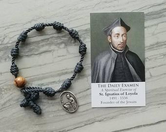 St. Ignatius of Loyola Rosary Bracelet - with medal