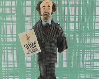 Russian Literature-  Alexander Solzhenitsyn- Poetry Writer-Bibliophile Art- Collectible Figure- Miniature Size