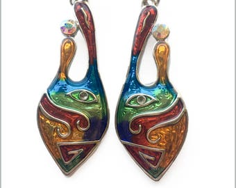 Abstract Multicolour Earrings