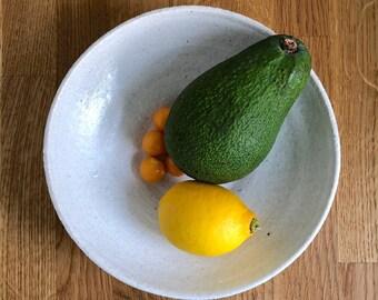 White fruit bowl - handmade ceramics