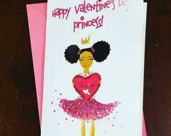 Happy Valentine's Day Princess- 5x7 Valentine's Day Card