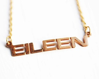 Eileen Name Necklace
