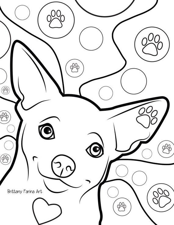 chihuahua kleurplaat pagina kleurplaat kleurboek