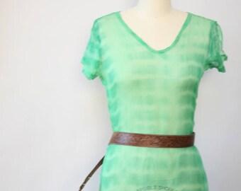 tie dye sheer gauze cover up // vintage