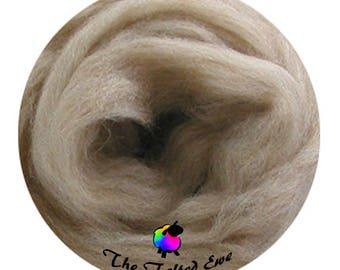 Needle Felting Wool Roving / ES12 Island Sands Carded Wool Sliver