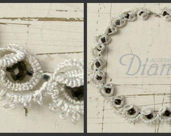 Rhinestone with a delicate handmade lace