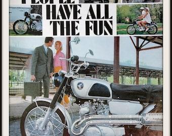 1966 Honda Motorcycle Advertisement Vintage Ad