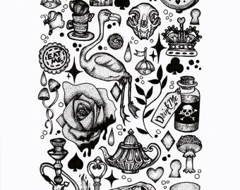 A4 Print - Alice in Wonderland Flash Sheet