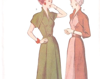 Butterick Retro 1950s womens dress with faux bolero reissued pattern uncut and factory folded Out of Print