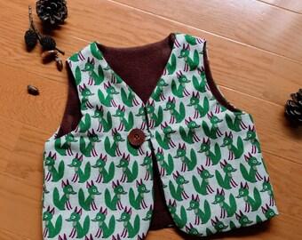 12months Reversible fox pattern baby vest