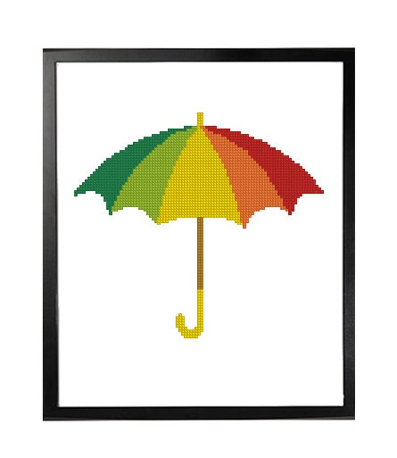Image result for cross stitch umbrella clipart