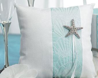 Beach Theme Wedding Ring Cushion , Ring Pillow, Wedding Ring Box