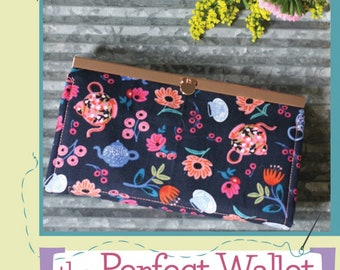 The Perfect Wallet by Mary Hayes and Tara Kordich, Amelia's Garden Pattern, Clutch, Wallet Frame Clutch