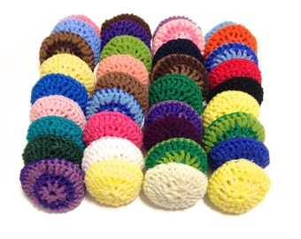 Assorted Crocheted Nylon Netting Dish Scrubbies-Mystery Lot Of Thirty-Six