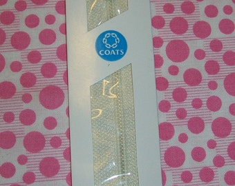 12 inch Polyester All-Purpose Zipper 256 Natural