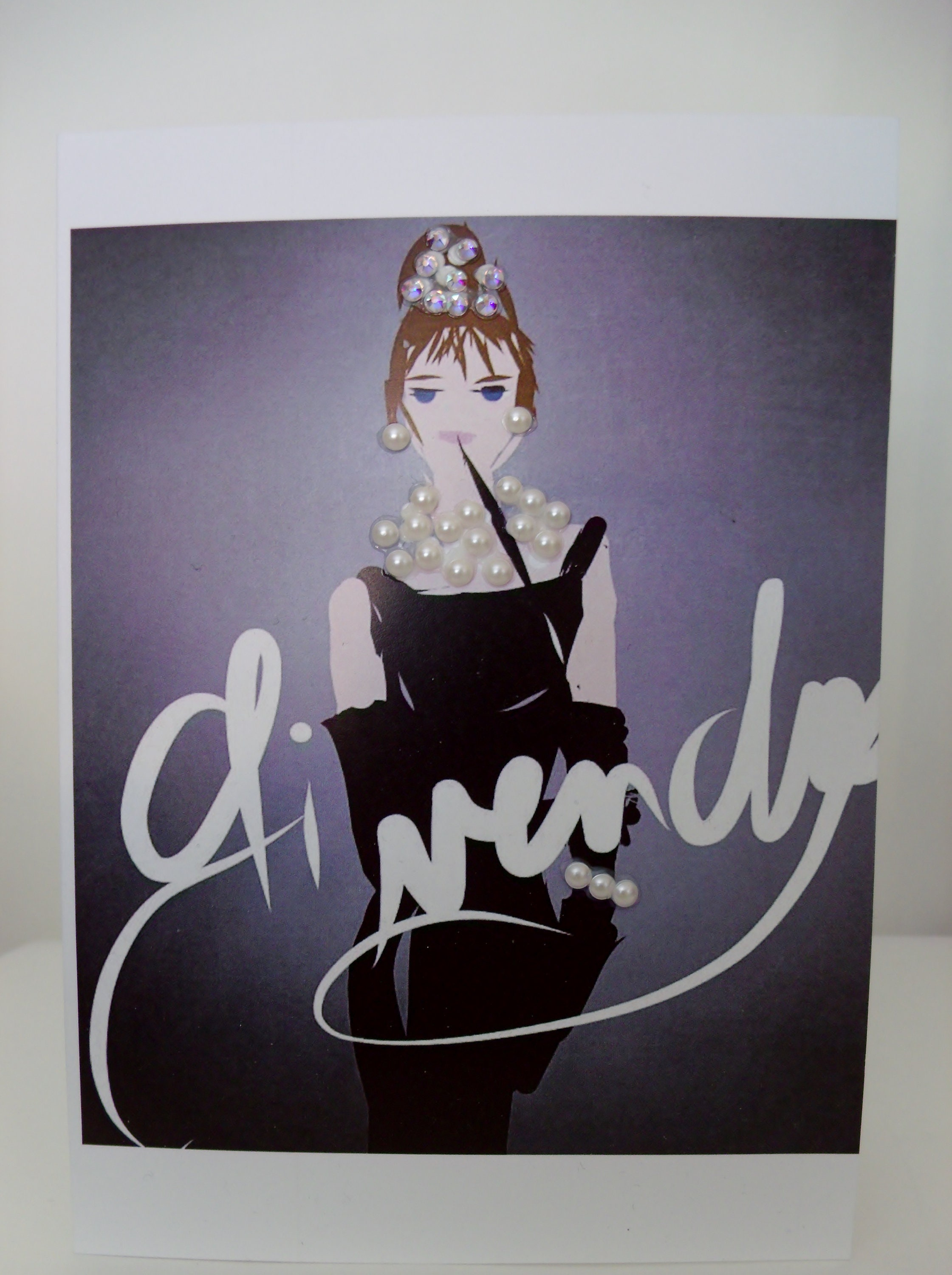 Tribute To Givenchy Audrey Hepburn Exclusive Greeting Card With