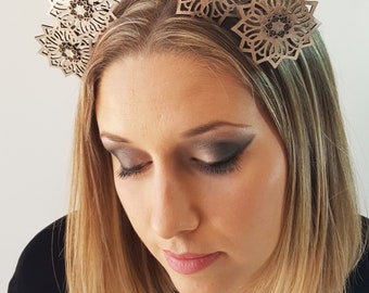 Analisa Leather fascinator headpiece