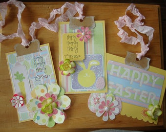 Easter gift tags embellished paper ornaments party favors easter gift wrap package ties embellishments paper crafts supplies