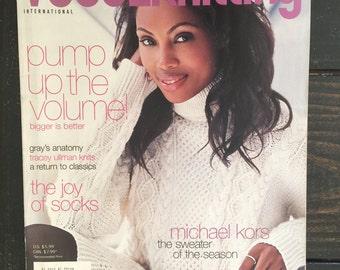 SALE! Knitting Magazine Destash - Vogue Knitting Magazine Fall 2006 - Great Condition