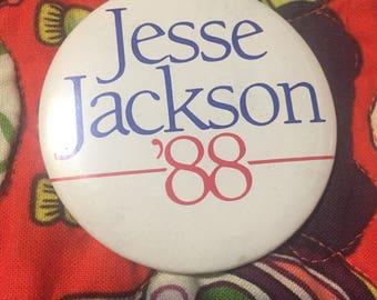 Jesse Jackson 1988 Presidential Campaign Pinback Button