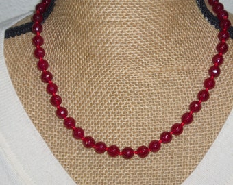 Genuine Earth Mined 238.00 Carats of Rich Red Brazilian Hand Knotted Ruby 925 Silver Necklace