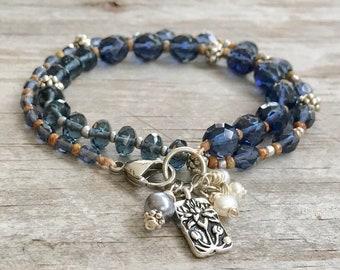 Midnight Blue Double Wrap Bracelet