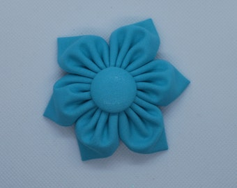 Bermuda blue hair bow