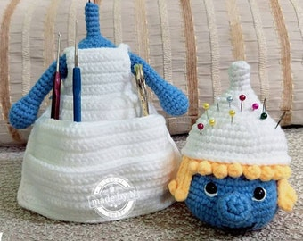Crochet Pattern : Smurfs style with a pocket   [ PDF crochet pattern with Instant Download ]