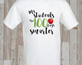 Instant Download - 100 Days of School Iron-On Transfer design for kids/school/classroom/teacher - Printable