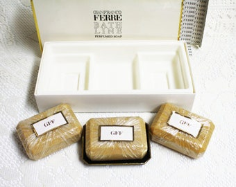 Gianfranco Ferre Perfumed Soap, Vintage Perfumed Soaps, Classic Perfumed Soap Gianfranco, Luxury Perfumed Soaps, Perfumed Soap Gift Sets
