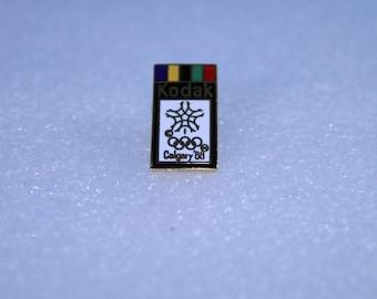1988 Calgary Winter Olympics Kodak Lapel Hat Souvenir Pin